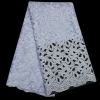 Free shipping (5yards/pc) Hand cut Swiss voile lace fabric white African cotton lace fabric high quality for party dress CLP82