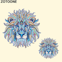 ZOTOONE DIY Lion Iron Patches for Clothes A-level Washable Iron On Heat Transfers for Clothes Patches T-shirt Dresses Applique C canada maple leaf iron on a level patches for diy t shirt bags accessory decoration applique badge sticker patches washable