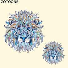 ZOTOONE DIY Lion Iron Patches for Clothes A-level Washable On Heat Transfers T-shirt Dresses Applique C