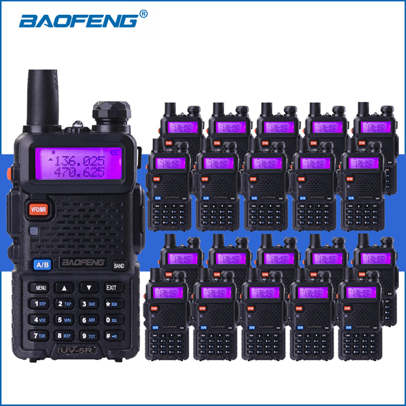 20 pcs/lot Baofeng UV-5R VHF UHF Talkie Walkie De Poche 5r Deux Way Ham Radio UV5R Portable Talkies-walkies Radio Communicateur