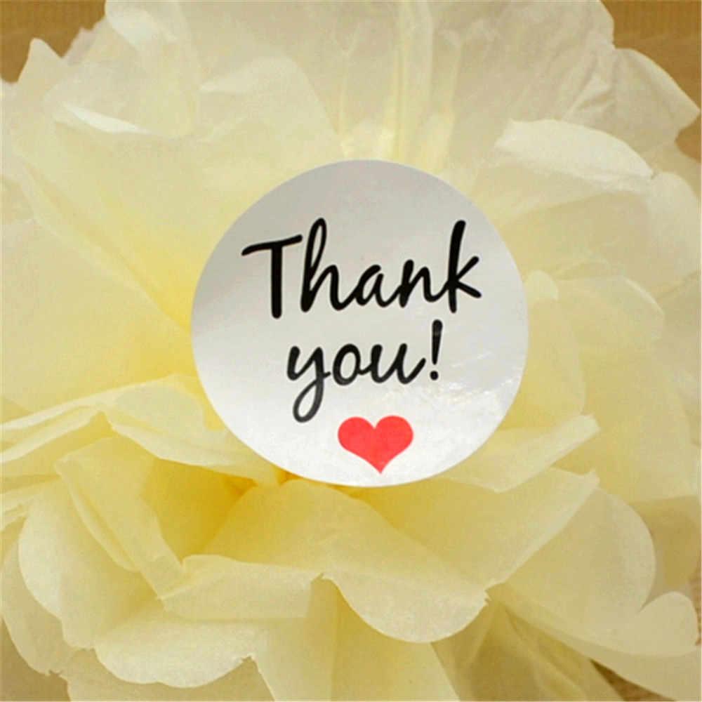 "120PCS ""Thank You"" Kraft เครื่องเขียนป้ายสติกเกอร์ DIY Retro Seal สติกเกอร์สติกเกอร์ผลิตภัณฑ์ handmade with Love"