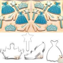 Кондитерские туфли для принцессы, 1 шт., кондитерские туфли с кристаллами, металлический декор для тортов, печенья, печенья, кондитерских изд...