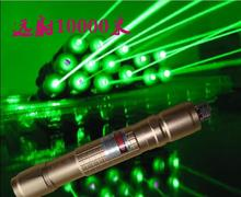 On sale high power Military 10w 10000mW 532nm Lazer Powerful light green laser pointers Burning Beam Match,pop balloon Burn Cigarettes