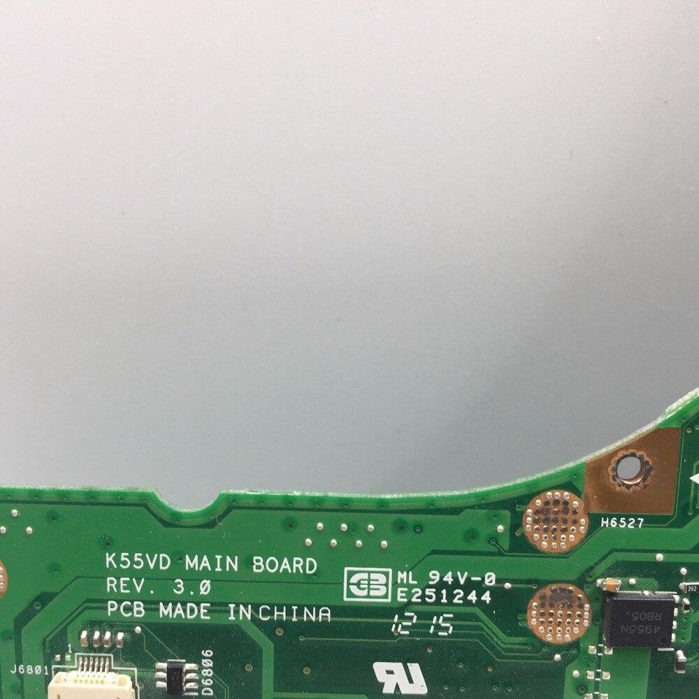 SHELI original K55VD laptop motherboard for ASUS A55V K55VD K55A motherboard GM in stock tested mainboard 100% work