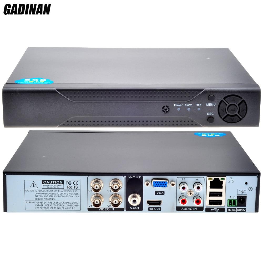 ФОТО GADINAN 4CH H.264 CCTV AHD 1080P DVR P2P iCloud PTZ RS485 Onvif Network Surveillance Hybrid DVR XVR 2*1080P(analog)+2*1080P(IP)