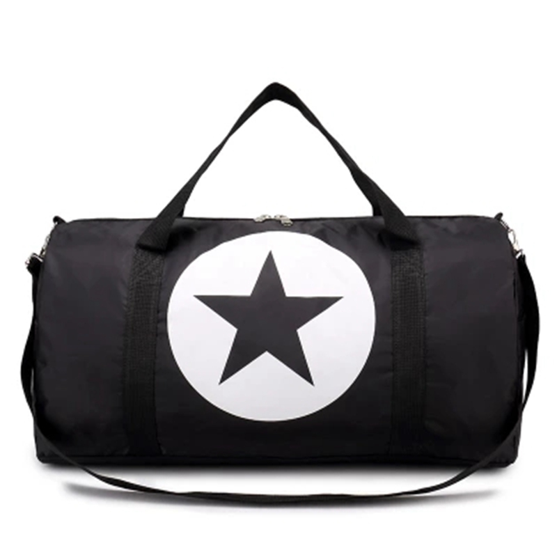 Large Nylon Material Waterproof Travel Bag Gym Bag Five-Pointed Star Large Capacity Women And Men Bags