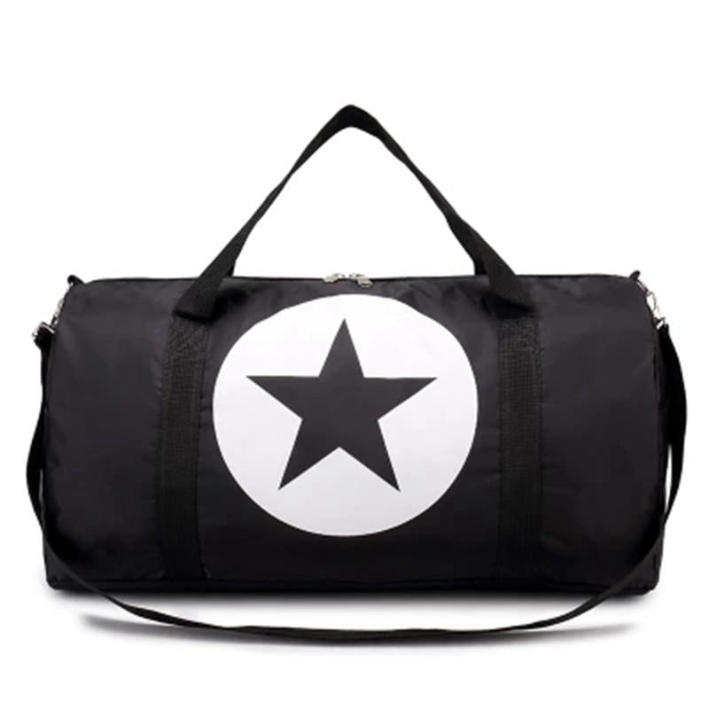 Large Nylon Material Waterproof Travel Bag Gym Bag Five-Pointed Star Large Capacity Women And Men Bags
