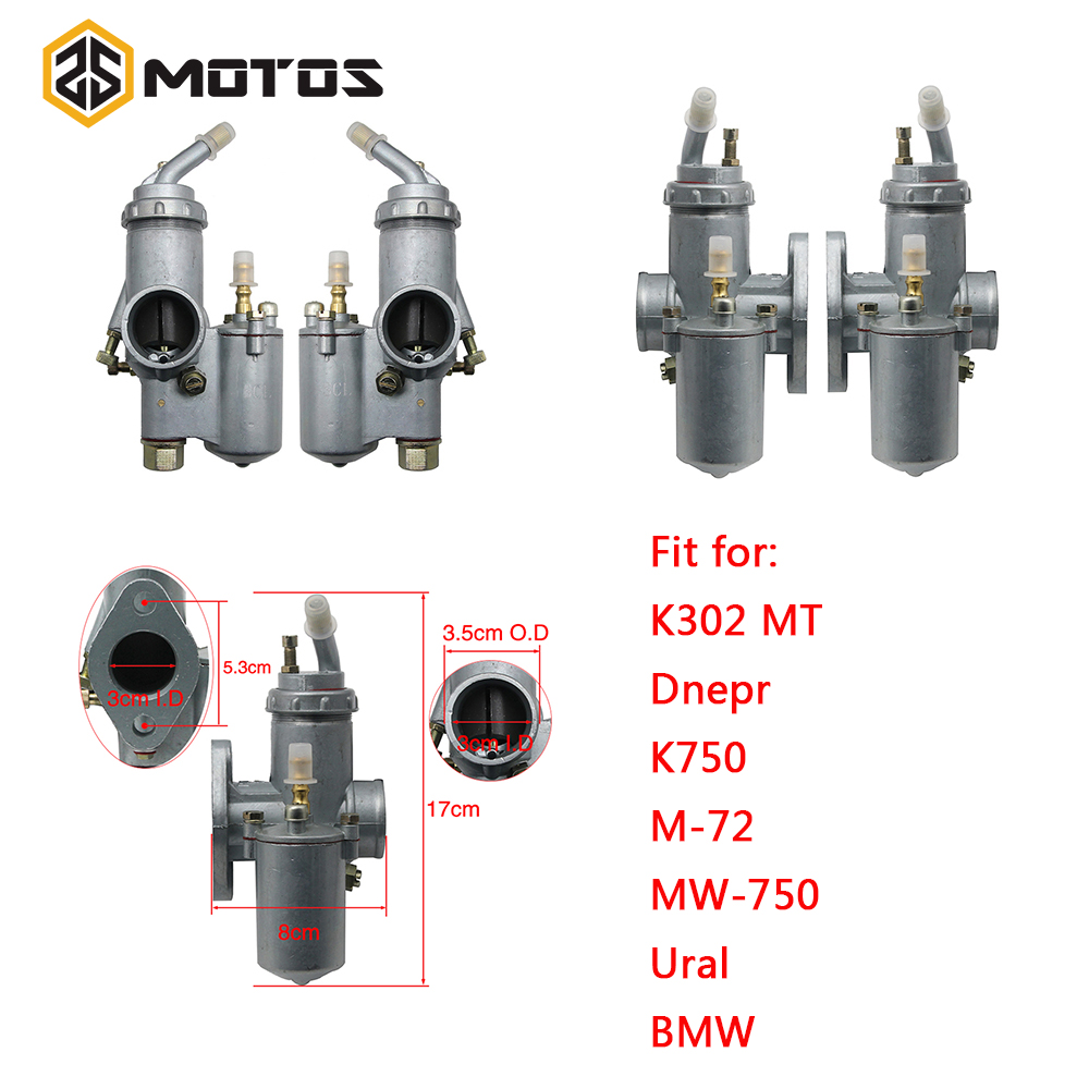 ZS MOTOS CJ K750 Motorcycle Carburetor PZ28 Carburator For BMW R50 R60 R12 KC750,R1,R71,M72 CJ KC750 K750 Motorcycle Parts-in Carburetor from Automobiles & Motorcycles    1