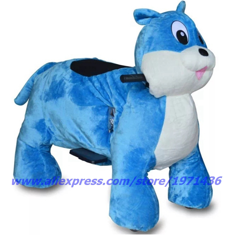 2018 The Latest Design Remote Control Battery Coin Operated Electric Cute Plush Animal Ride On Toys
