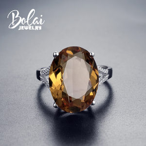 Image 2 - Bolai 18*13mm Big Diaspore Cocktail Ring 925 Sterling Silver Color Changing Zultanite Fine Jewelry For Women Female Christmas