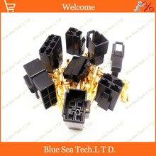 6.3 мм 2 & 3 & 4 & 6 Way/контактный мужской и женский Электрический Разъем Комплекты (2/3/4/6 Pin) для Автомобиля Мотоцикла т. д. черный цвет