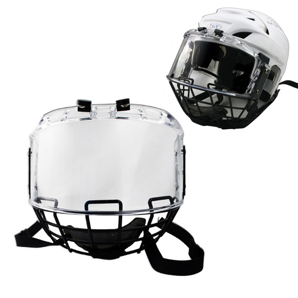 free shipping Ice hockey helmet combination with metal mask PC visor for player helmet free shipping high quality pp eva foam ice hockey helmet with black wire cage face mask