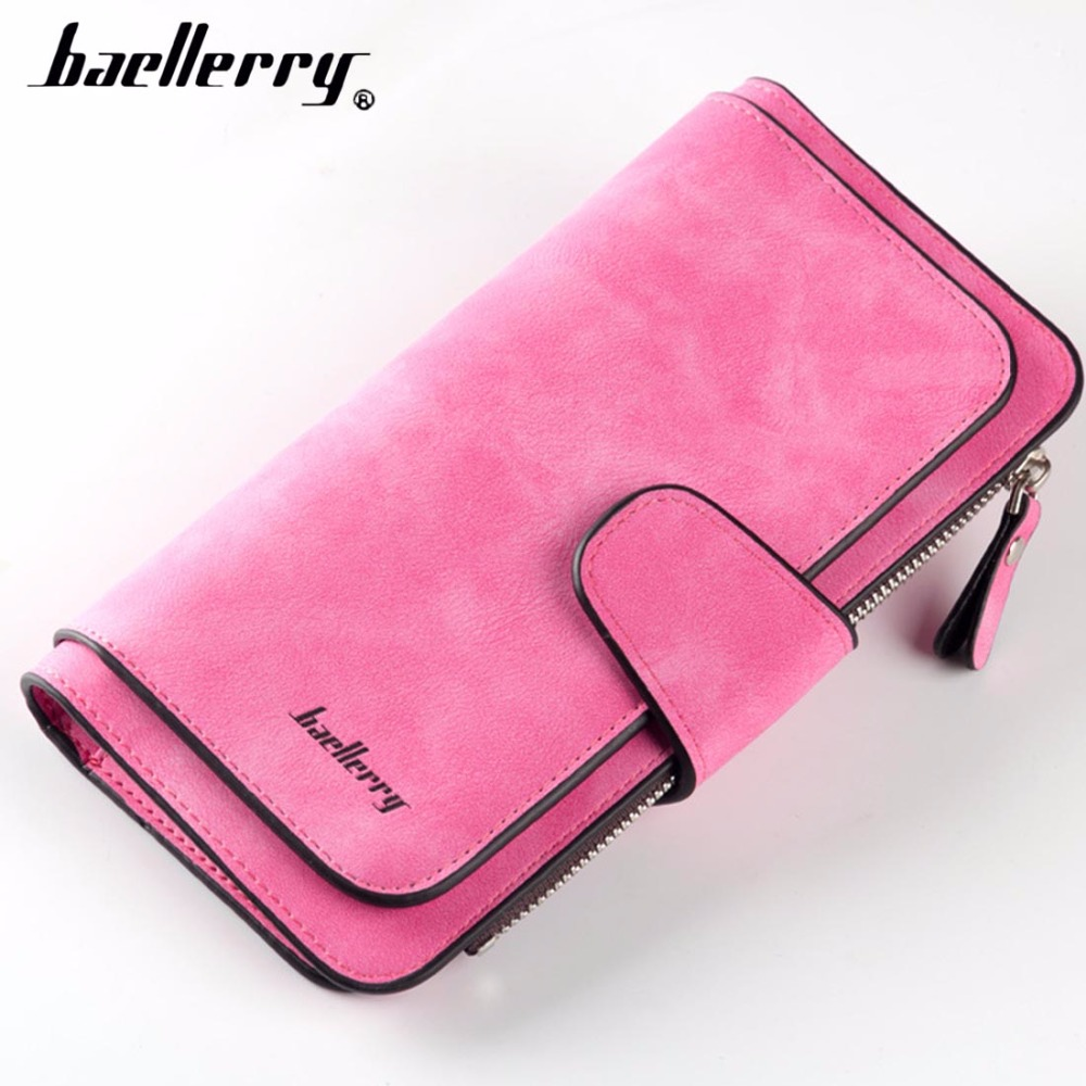 Fashion Baellerry Women Wallets Long PU Leather Card Holder Female Purse Top Quality Zipper Big Brand Wallet For Girl