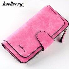Купить с кэшбэком Fashion Baellerry Women Wallets Long PU Leather Card Holder Female Purse Top Quality Zipper Big Brand Wallet For Girl