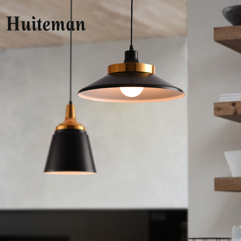 Modern Pendant Lights Kitchen Industrial Pendant lamp Loft E27 Edison Black Iron Cage white Lampshade Indoor Hang Lamp Lighting цена