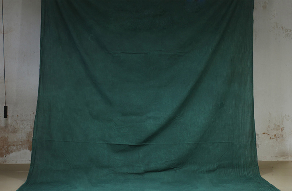 Hand Dyed Green Muslin Photo Backdrop Cotton Hand Painted Background Glare-Free Photography Studio Screen 7x10ft XY-03