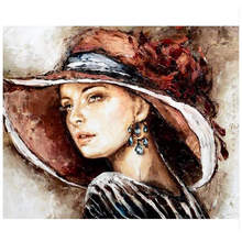 Diy Painting By Numbers,Pictures Numbers,Wall Picture,Beautiful Woman Digital Oil