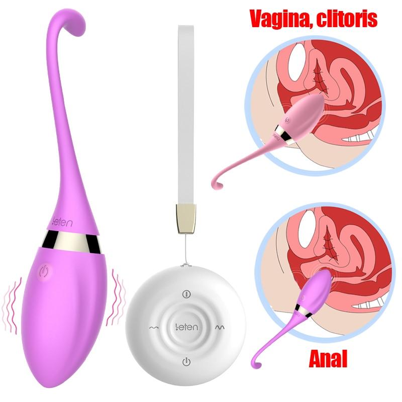 Leten Sex Product Vibrator USB Direct Charged G-spot Vibrating Egg Anal Butt Plugs Clitoris stimulation dildo Sex Toys For Woman