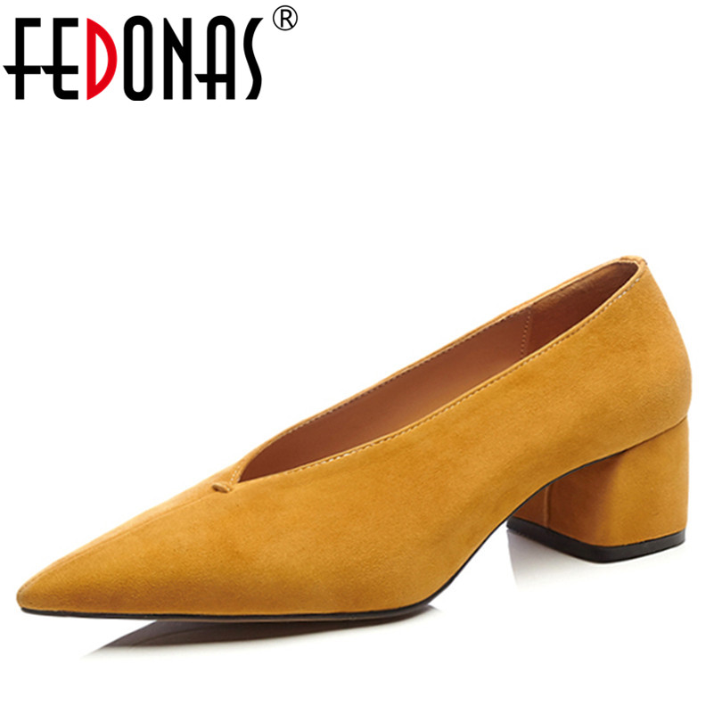 FEDONAS New Fashion Elegant Women Pumps Pointed Toe High Heels Wedding Party Shoes Woman Lady Slip On Pumps Retro Shoes new stylish designer lady high heels shoes pointed toe concise slip on office career shoes woman string metal bead shoe edge