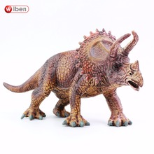 Wiben Jurassic Triceratops Dinosaur Toys Action Figure Animal Model Collection High Simulation Xmas Gift For Kids
