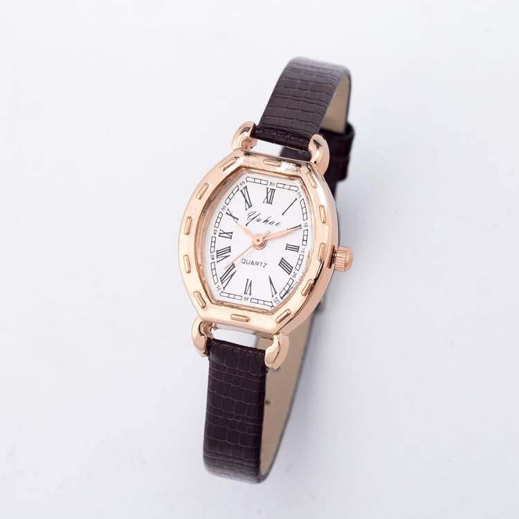 Luxury Mini Small Dial Rose Gold Snake Genuine Leather Wrist Watch Wristwatches for Women Ladies Girls