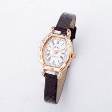 De luxe Mini Petit Cadran Or Rose Serpent Véritable En Cuir Montre-Bracelet Montres pour les Femmes Dames Filles Rose Noir Blanc OP001