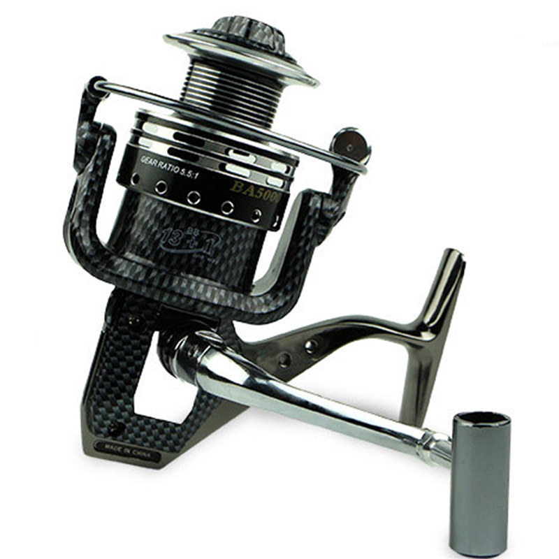 Yumoshi Brand High Speed 13+1 BB Full Metal <font><b>Fishing</b></font> <font><b>Reels</b></font> Super Lightweight <font><b>Fishing</b></font> Spinning <font><b>Reel</b></font> BA1000-7000 Aluminum Alloy