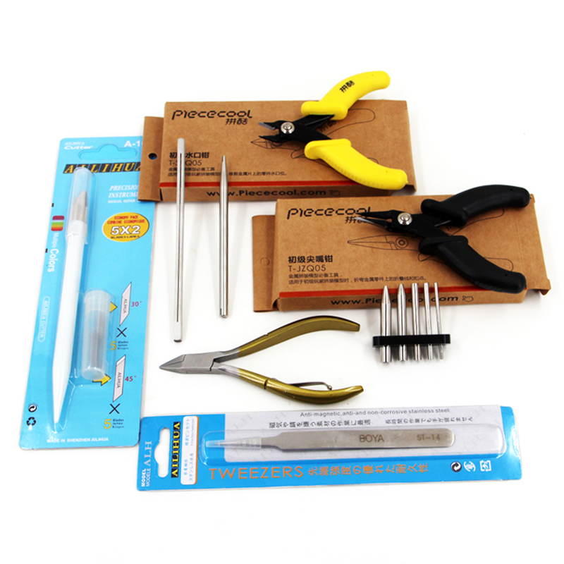 3D Metal Puzzles Assembly Multipurpose Tools Set Nippers Scissors Long Nose Pliers Tweezers Pencil Sharpener Buckle Bend Device
