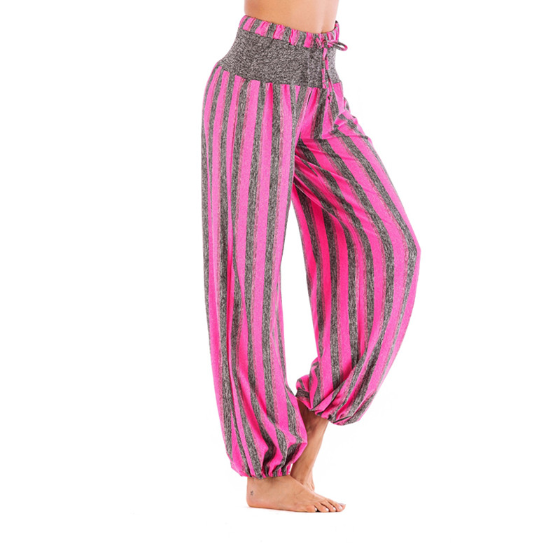 Mujer Las Blue red Cintura pink Ocasionales Ahora Alto Pantalones Pantalones Nueva La Slim gray De Moda Rayas Mujeres Popular Sueltos PxCgHzwqa5