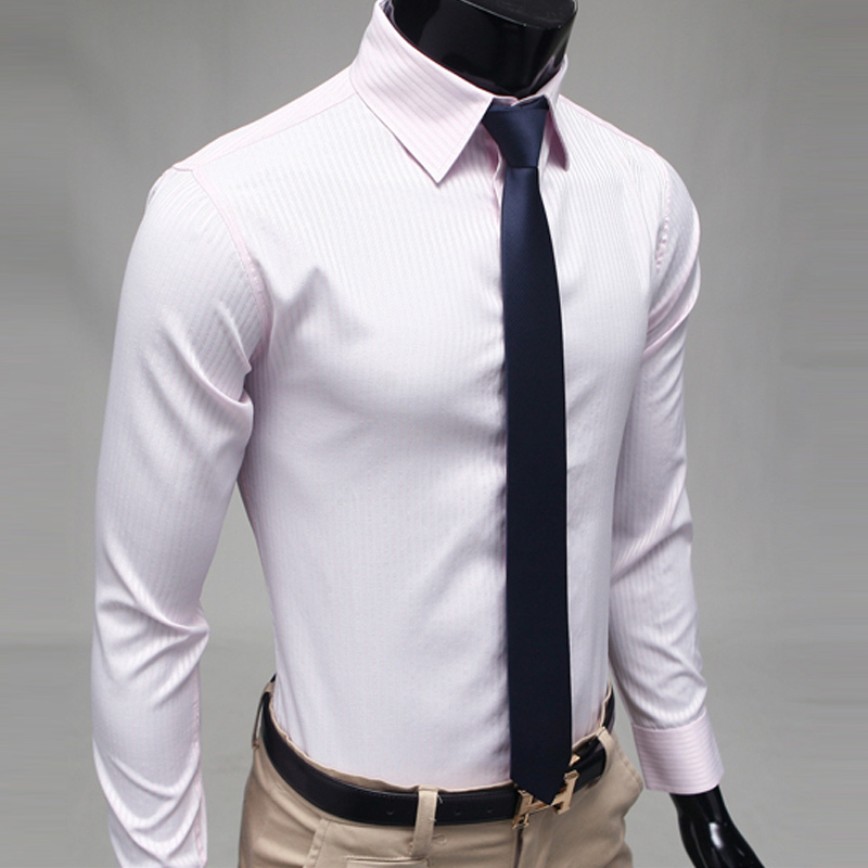 2013 high grade fabric slim stripe casual shirt