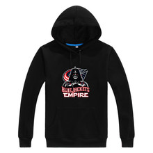 2017 Blue Jackets Empire  Star Wars Darth Vader Men Sweashirt Women Columbus warm hoodies 0105-1