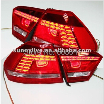 For VW Passat b7 American Version LED Tail Lamp Rearlights 2011- 2014 year Red Color набор автомобильных экранов trokot для vw passat b7 2010 2014 на передние двери tr0408 01
