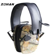 ZOHAN Electronic Earmuff  NRR 22DB Tactical Hunting Ear Plugs Electronics Protection Shooting Muffs Earplugs Shoot