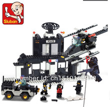 Educational Toys for children DIY Building Blocks police station self-locking bricks Compatible with Lego