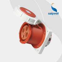 High Quality IP67 4P 125A International Standard Panel Mounted Socket / Waterproof Concealed Industrial Socket ( SP 1457)