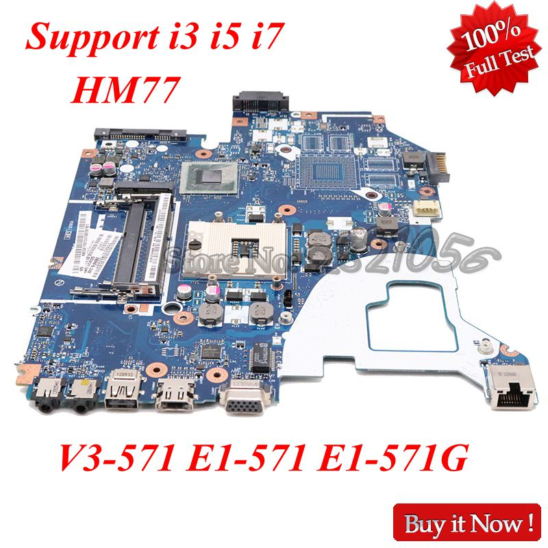 NOKOTION NBC0A11001 NB.C0A11.001 Laptop Motherboard For Acer V3-571 E1-571 E1-571G Q5WV1 LA-7912P Mainboad HM77 hd 4000 ddr3