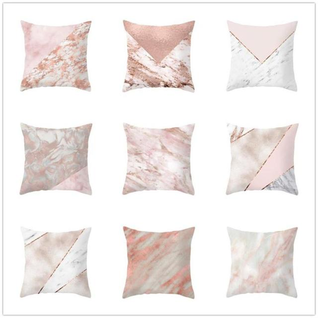 Geometric Marble Texture Throw Pillow Case Super Soft Fabric Custom Fabric For Decorative Pillows