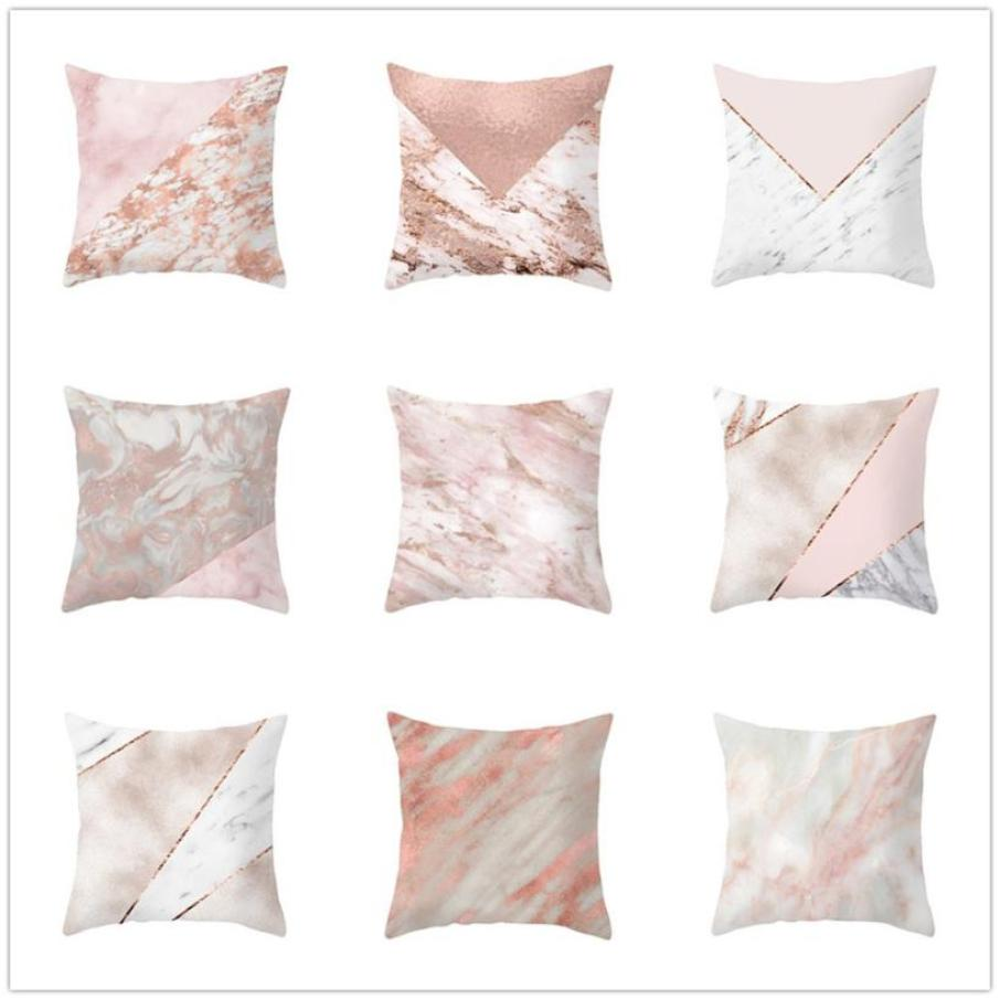 Geometric Marble Texture Throw Pillow Case Super soft fabric Decorative Pillows For Sofa Seat Cushion Cover 45x45cm Home Decor