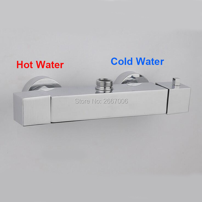 Free Shipping Square Shower Smart Shower Faucet Wall Bathroom Thermostatic Mixer Taps Thermostatic Mixer Valve Tap ZR962 bathroom faucet shower water mixer tap copper dual handle thermostatic faucet black brass thermostatic faucet mixing valve