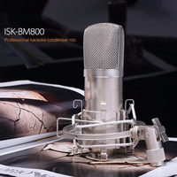 NI5L ISK BM 800 Condenser Microphone Professional Recording Microphone Music Create Broadcast And Studio Microphone FreeShipping