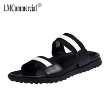 Genuine Leather British retro all-match cowhide summer sandals Sneakers Men Slippers Flip Flops casual Shoes beach outdoor male все цены