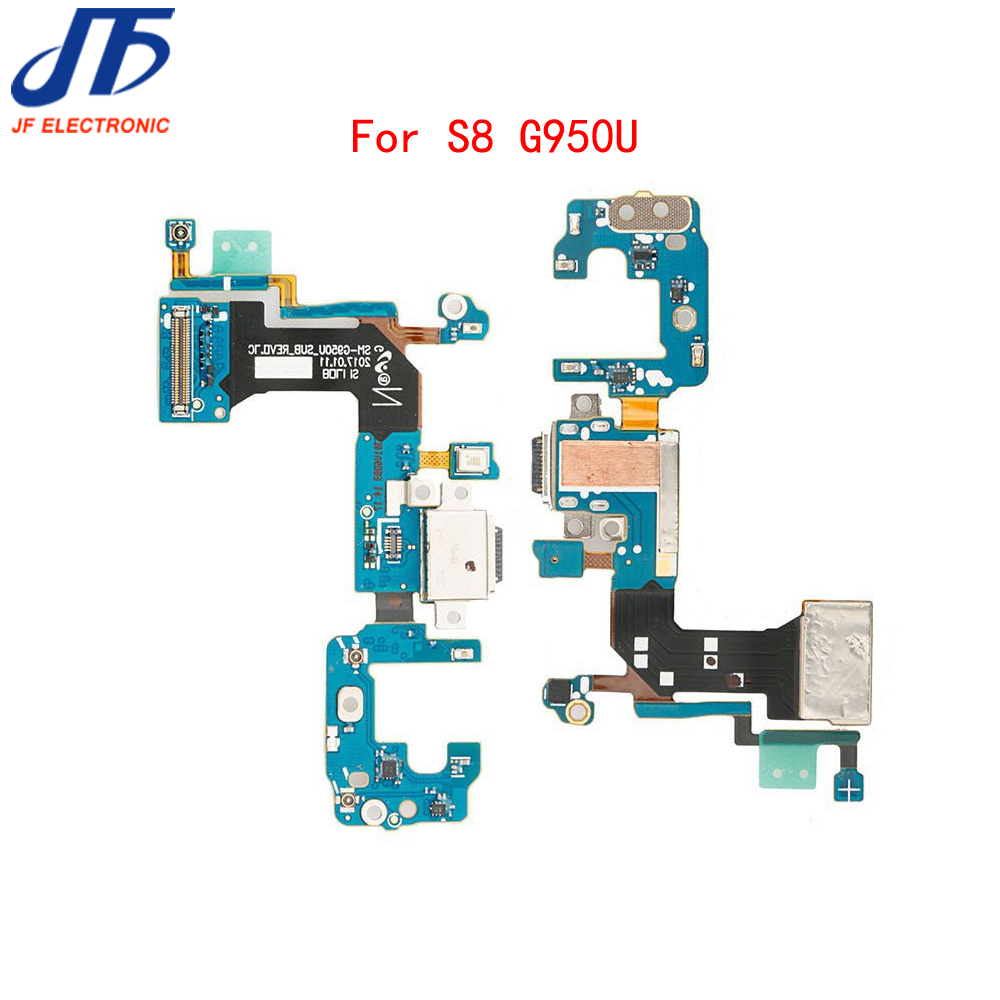 Image 2 - 50pcs/lot For Samsung Galaxy S8 G950F / G950U charger charging connector usb dock port plug flex cable Ribbonflex cablecable ribboncharging connector -