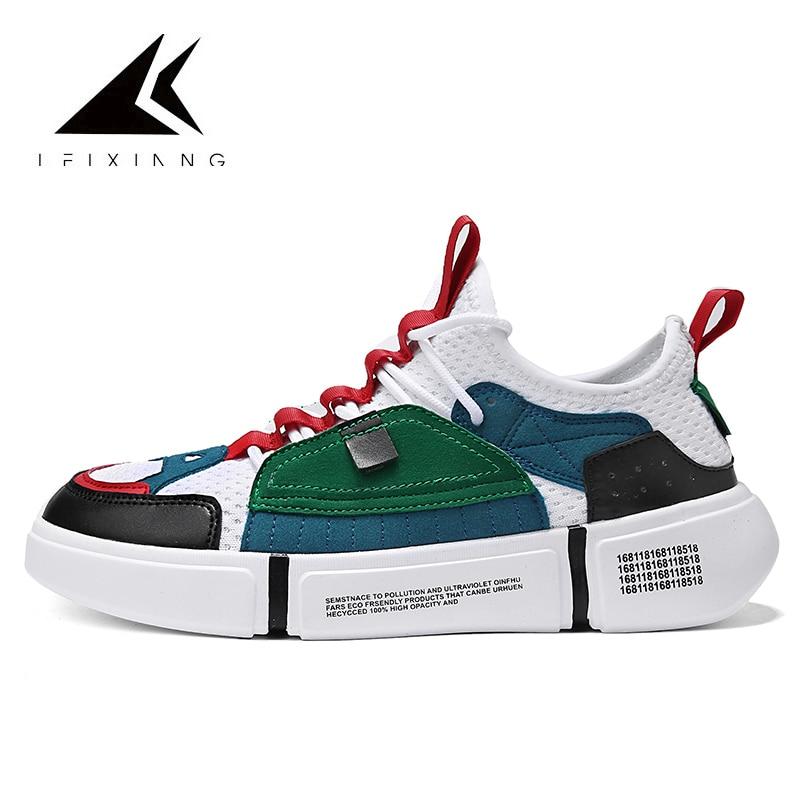 INS Super Hot Skateboard Shoes For Men Sneakers Hombre Mesh Breathable Sport Skateboarding Shoe Walking 2 ACE Cool Gray Shoes