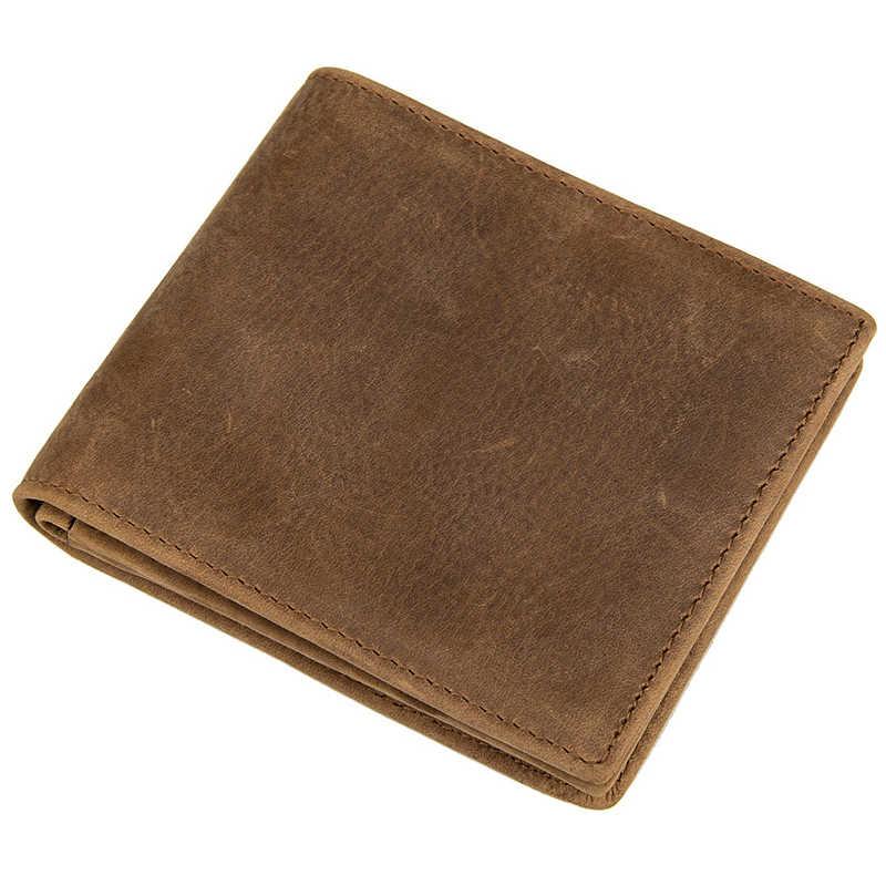 COHEART 100% Cartera de cuero genuino para hombre monederos billeteras de piel de vaca Cartera de garantía de calidad vintage carteira masculina