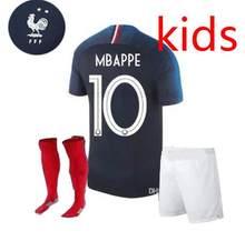 eb1e5f5e0a Estrelas crianças 2018 Copa Do Mundo de Camisas De Futebol GRIEZMANN POGBA  2 MBAPPE Franceing 18