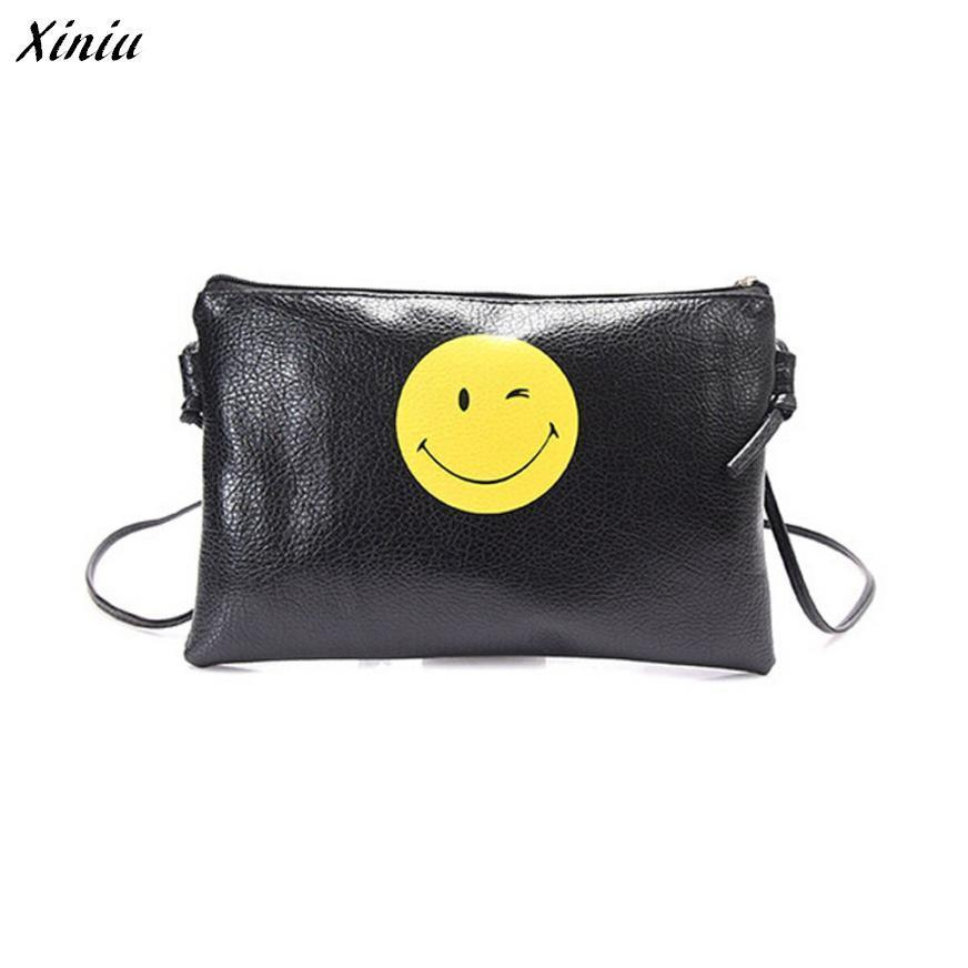 Xiniu Women Messenger Bags Smiling Face Women Handbag Shoulder Bag Long Strap Bolsas Feminina #0