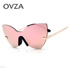 Ovza 2017 новые модные роскошные Солнцезащитные очки для Для женщин Кошачий глаз Солнцезащитные очки женские неотъемлемой Объектив Ретро Зеркало очки S8098