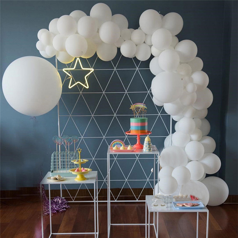 106pcs Macaron White Balloons Arch Garland adult 30st <font><b>Happy</b></font> <font><b>Birthday</b></font> Party Decorations 1st Round Globos Babyshower Supplies image