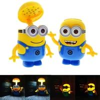 Minions Cartoon Folding LED Night Light Money Box Baby Room Kids Bed Sleeping Lamp Decoration Eyeshield