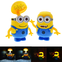 Minions Cartoon Folding LED Night Light Money Box Baby Room Kids Bed Sleeping Lamp Decoration Eyeshield
